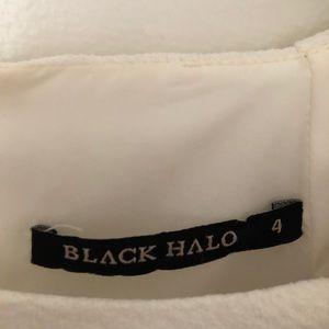 Black Halo Dresses - Black halo short sleeve midi knee dress